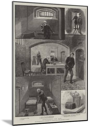 Imprisonment for Debt--Mounted Giclee Print