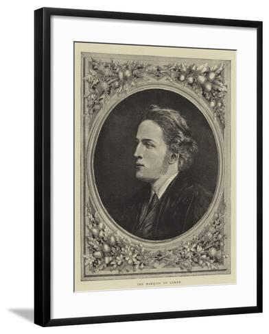 The Marquis of Lorne--Framed Art Print