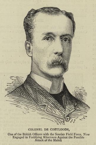Colonel De Coetlogon--Stretched Canvas Print