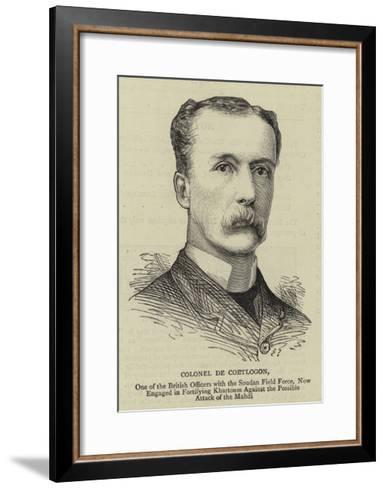 Colonel De Coetlogon--Framed Art Print