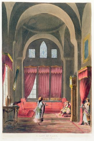 A Lady in Cairo, 1802--Stretched Canvas Print