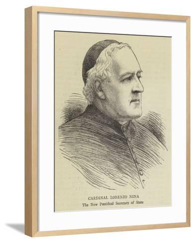Cardinal Lorenzo Nina--Framed Art Print