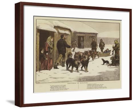 Christmas in Manitoba--Framed Art Print
