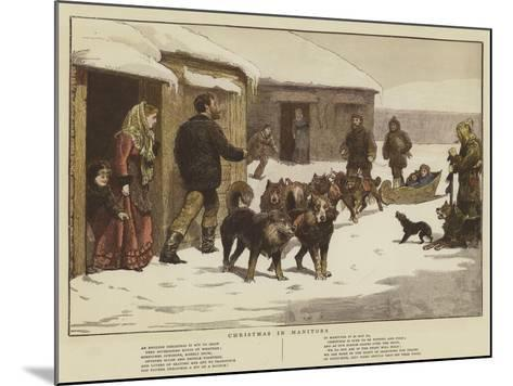 Christmas in Manitoba--Mounted Giclee Print