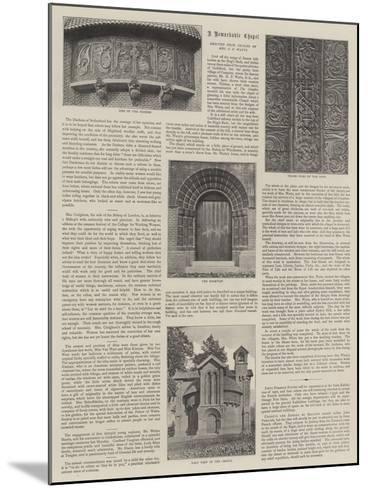 Watts Mortuary Chapel--Mounted Giclee Print