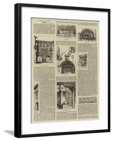In the City of Verona--Framed Art Print