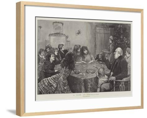 A Game at Speculation--Framed Art Print