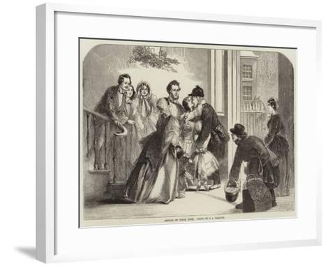 Arrival of Uncle John--Framed Art Print