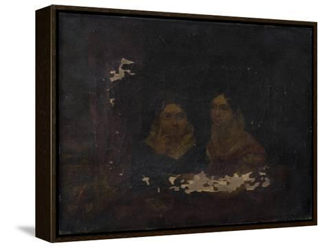 Portrait of Two Women--Framed Canvas Print