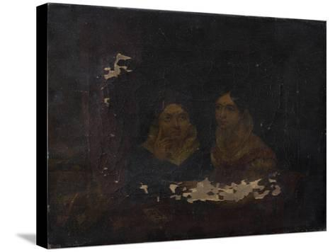 Portrait of Two Women--Stretched Canvas Print