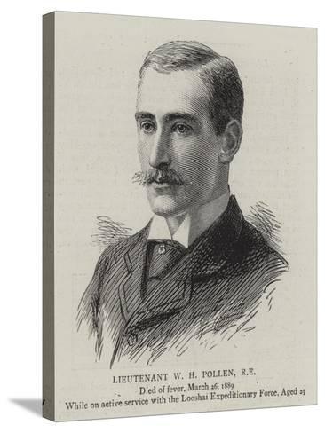 Lieutenant W H Pollen--Stretched Canvas Print