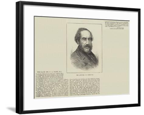 The Late Mr S a Hart--Framed Art Print