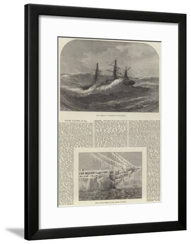 Winter Weather at Sea--Framed Art Print