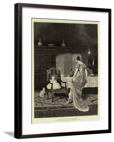 Amusing His Lordship--Framed Art Print