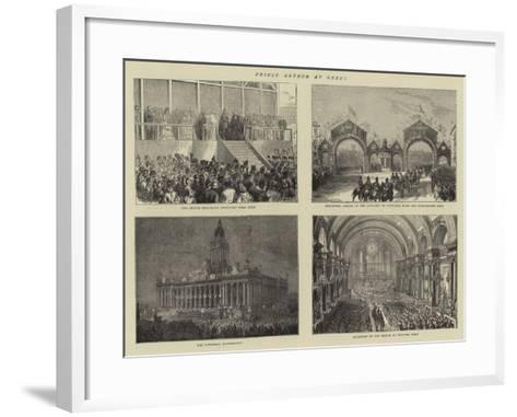 Prince Arthur at Leeds--Framed Art Print