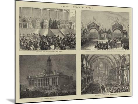 Prince Arthur at Leeds--Mounted Giclee Print