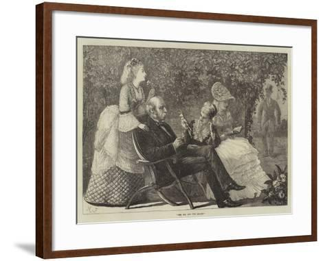 The Fox and the Grapes--Framed Art Print