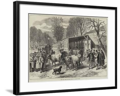 The Last Oxen in Paris--Framed Art Print