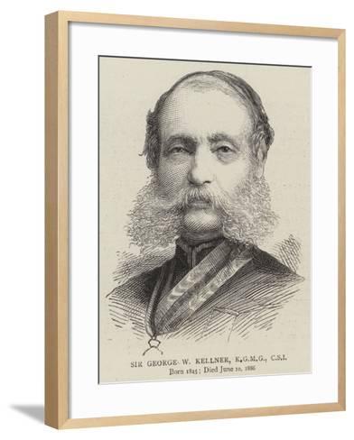 Sir George W Kellner--Framed Art Print