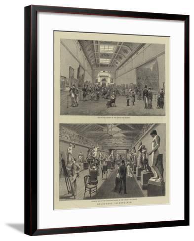 Melbourne Illustrated--Framed Art Print