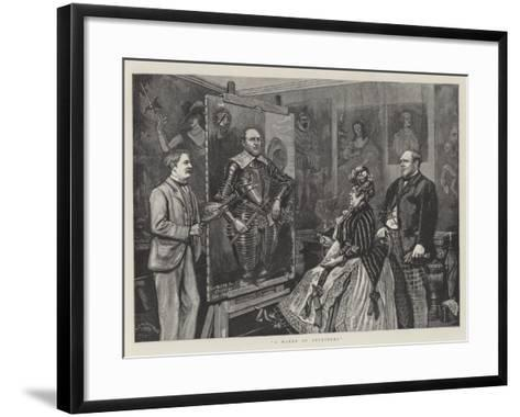 A Maker of Ancestors--Framed Art Print