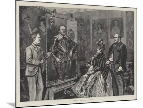 A Maker of Ancestors--Mounted Giclee Print