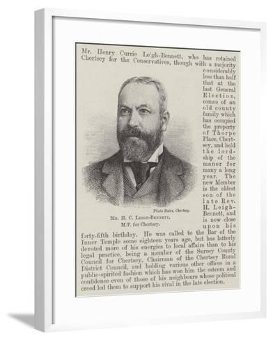 Mr H C Leigh-Bennett--Framed Art Print