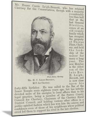 Mr H C Leigh-Bennett--Mounted Giclee Print