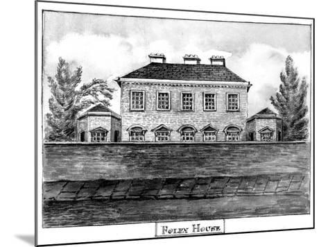 Foley House, C.1800--Mounted Giclee Print