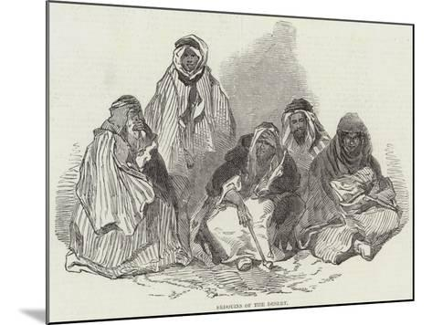 Bedouins of the Desert--Mounted Giclee Print