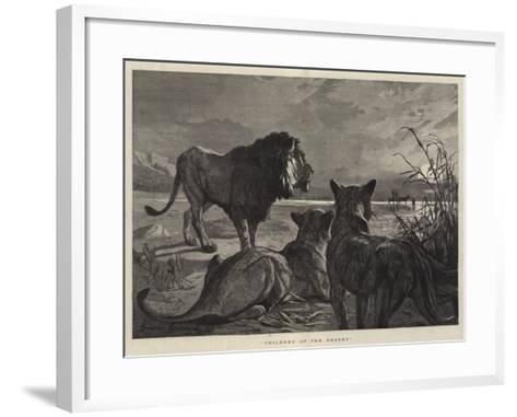 Children of the Desert--Framed Art Print