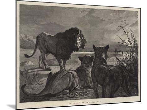 Children of the Desert--Mounted Giclee Print