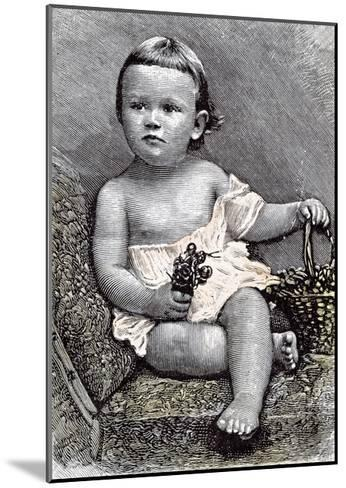 Girl on Chair, 1891--Mounted Giclee Print
