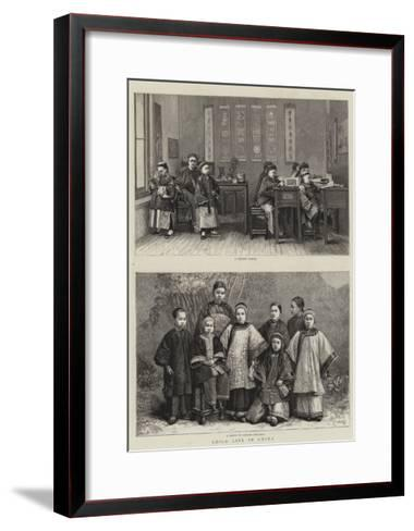 Child Life in China--Framed Art Print