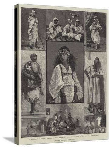 Sketches in Algeria--Stretched Canvas Print