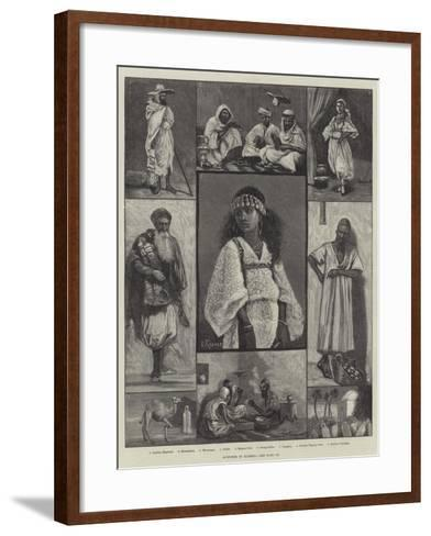Sketches in Algeria--Framed Art Print