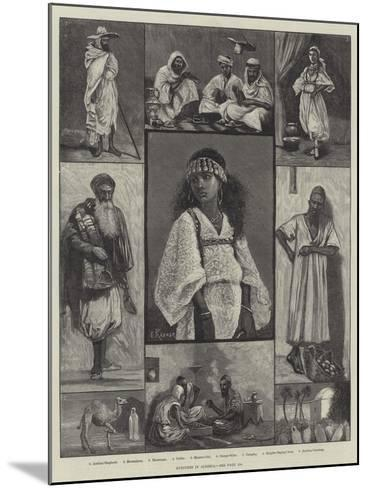 Sketches in Algeria--Mounted Giclee Print