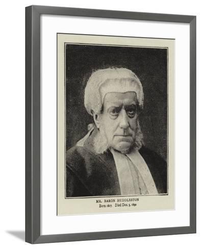 Mr Baron Huddleston--Framed Art Print