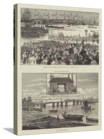 Battersea Bridge--Stretched Canvas Print