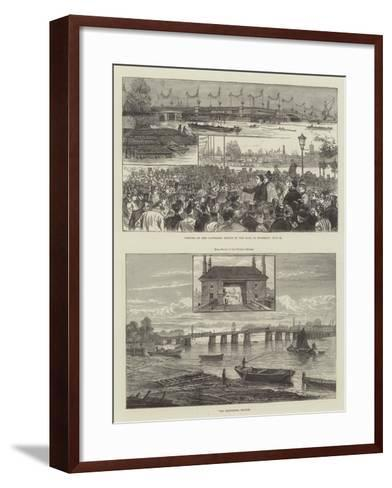 Battersea Bridge--Framed Art Print
