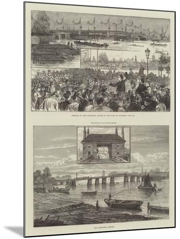 Battersea Bridge--Mounted Giclee Print