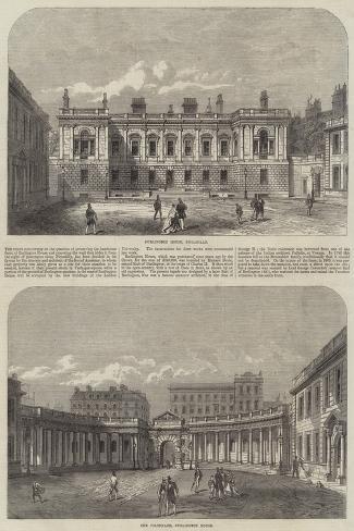 Burlington House--Stretched Canvas Print