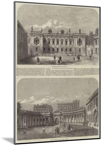 Burlington House--Mounted Giclee Print