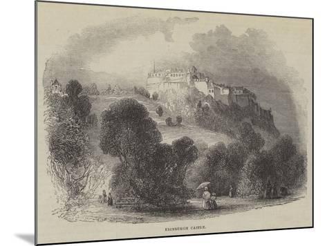 Edinburgh Castle--Mounted Giclee Print