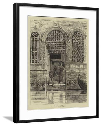 Past and Present--Framed Art Print