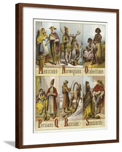 Races of the World--Framed Art Print