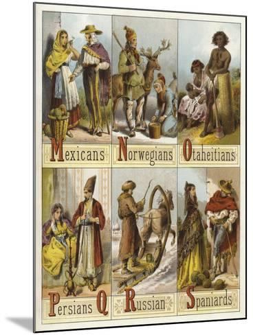 Races of the World--Mounted Giclee Print