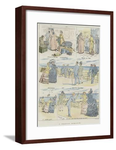 A Seaside Romance--Framed Art Print