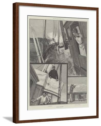 Yachting Sketches--Framed Art Print