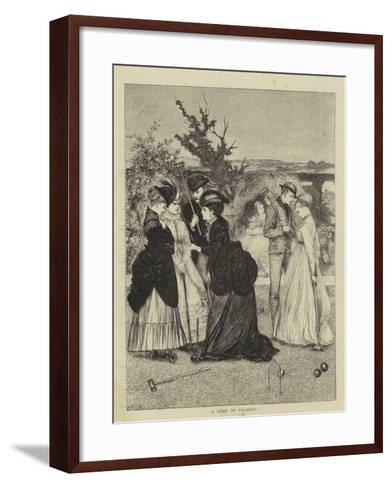 A Game of Croquet--Framed Art Print